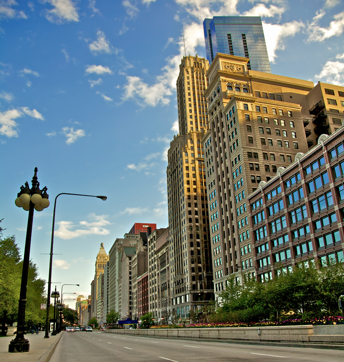 Michigan Avenue in downtown Chicago