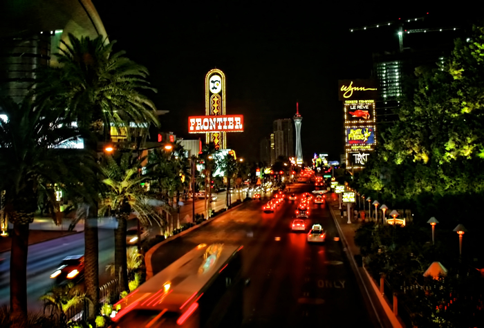 Las Vegas Strip with New Frontier Casino