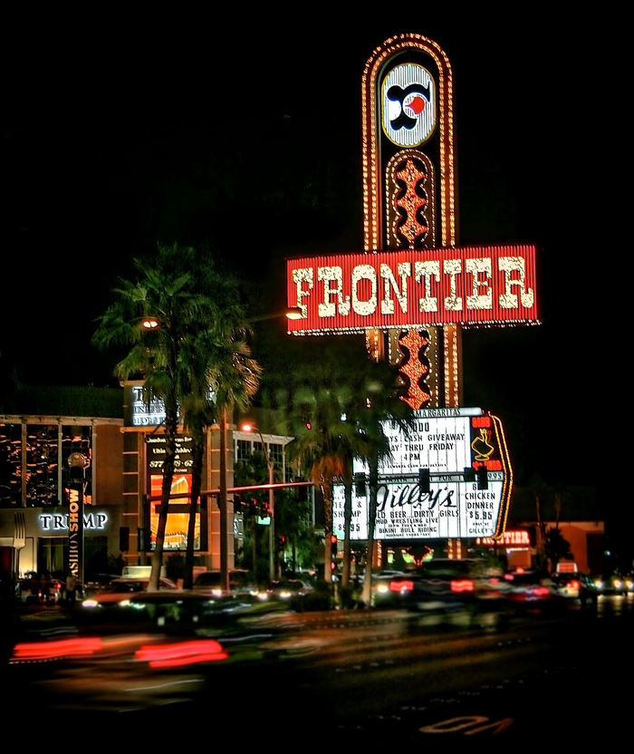 New Frontier Casino Sign, Las Vegas