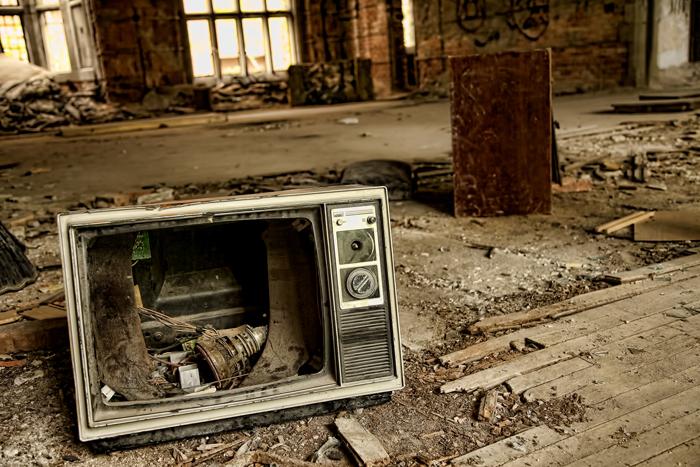Broken TV Set