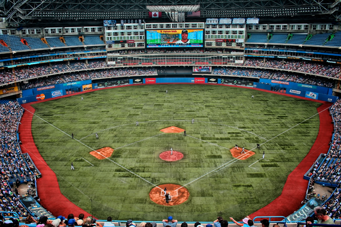 The Rogers Centre, home of the Toronto Blue Jays.