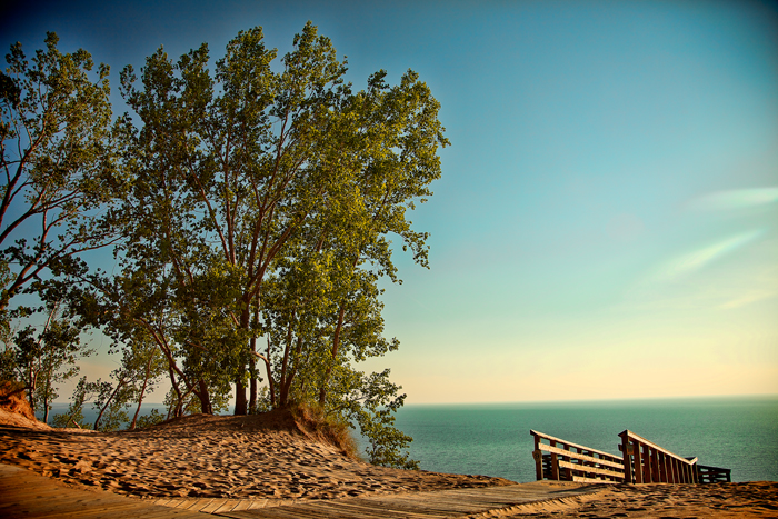 Sleeping Bear Dunes National Lakeshore near Empire Michigan in Leelanau County.