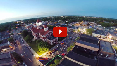 Aerial Video of 2014 Crown Point Corn Roast