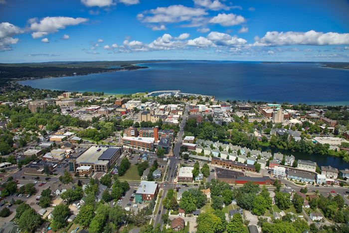 Aerial photo of Traverse City, Michigan